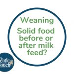 Should I give my baby food before or after milk feeds?